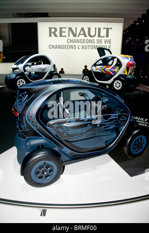 Paris motor show 2010 and the Renault Twizy - Stock Photo