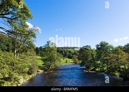 River Wharfe near the Cavendish Pavilion, Bolton Abbey, Wharfedale, Yorkshire Dales, North Yorkshire, England, UK - Stock Photo