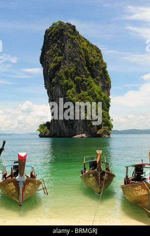 thai longtail boat - Stock Photo