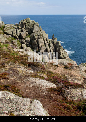 Cliffs at Gwennap Head in Cornwall.  Photo by Gordon Scammell - Stock Photo