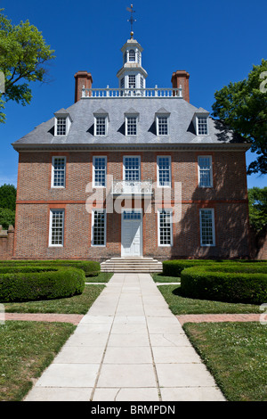 Colonial Williamsburg is a Williamsburg, Virginia, tourist attraction. It contains buildings from 1699 to1780 - Stock Photo