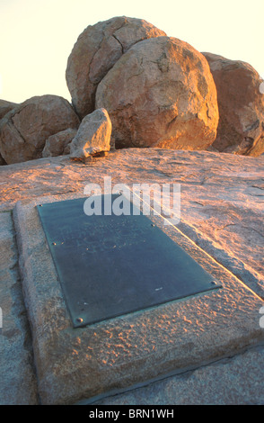 Grave of Cecil John Rhodes in the Matopos mountains - Stock Photo