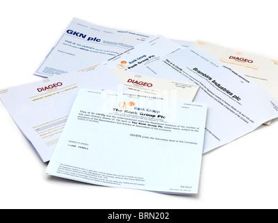 Share Certificates - Stock Photo