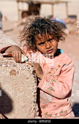 Bedouin Child, White Canyon, Sinai, Egypt. - Stock Photo