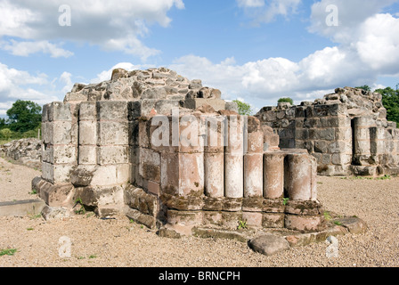 The ruins of Bordesley Abbey in Redditch Worcestershire - Stock Photo