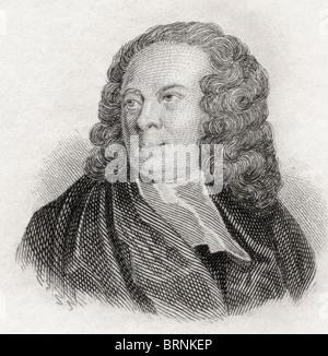 Edward Young, 1681 to 1765. English poet. - Stock Photo