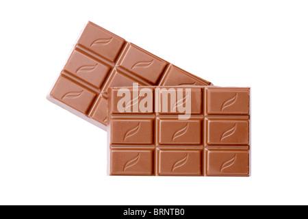 Milk chocolate pieces - Stock Photo