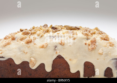 Fantastic home made carrot cake with yogurt - cream cheese topping - Stock Photo