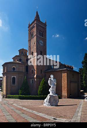 The Monte Oliveto Maggiore abbey, Tuscany, Italy - Stock Photo