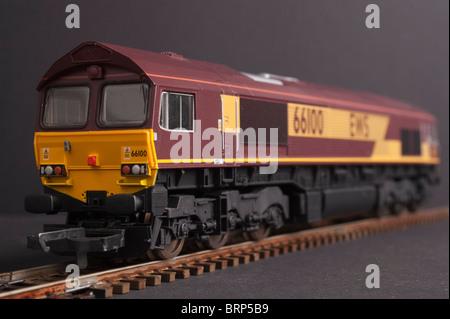 Class 66 Diesel Locomotive, EWS Livery - Stock Photo