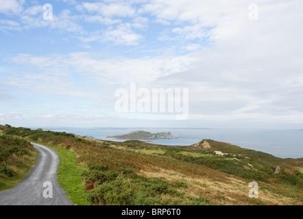 Ireland's eye,island,east coast,Howth,Dublin,Irish sea - Stock Photo