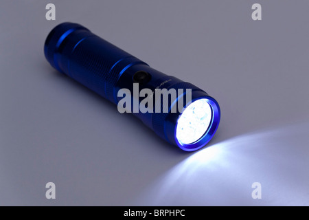 torch / flashlight with white LEDs - Stock Photo