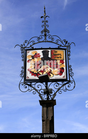 The sign outside the Lygon Arms hotel in Broadway Worcestershire - Stock Photo