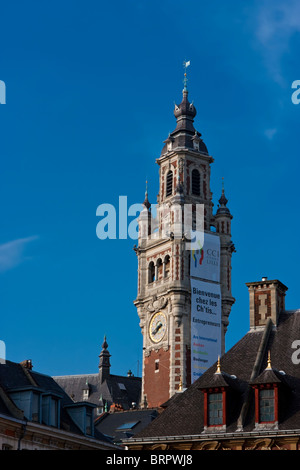 Bell tower belfry of chamber of commerce at lille for Chambre de commerce calais