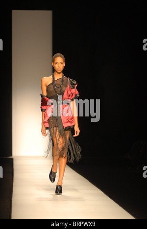 A model during Arise Africa Fashion Week, June 2009, in Johannesburg, South Africa. Photo: Eva-Lotta Jansson - Stock Photo