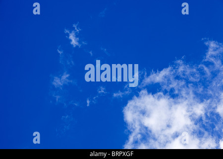 Blue sky with cirrus clouds looking up - Stock Photo