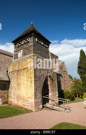 UK, Herefordshire, Brockhampton, All Saints Arts and Crafts Church tower, designed by William Lethaby - Stock Photo
