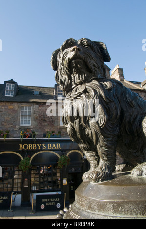 Statue of Greyfriars Bobby, Edinburgh. - Stock Photo