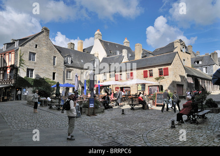 Street in Quimper, Brittany, France - Stock Photo