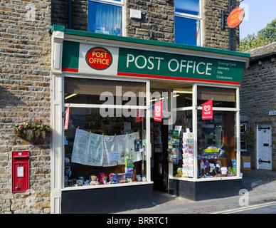 Typical Village Post Office, Grassington, North Yorkshire, England, UK - Stock Photo