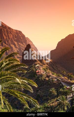 Canary Islands, Tenerife, Masca Mountain Village - Stock Photo