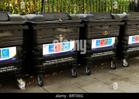 Westminster City Council Recycling bins, London, England, UK - Stock Photo