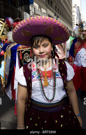 2010 Mexican Independence Day Parade in New York City - Stock Photo