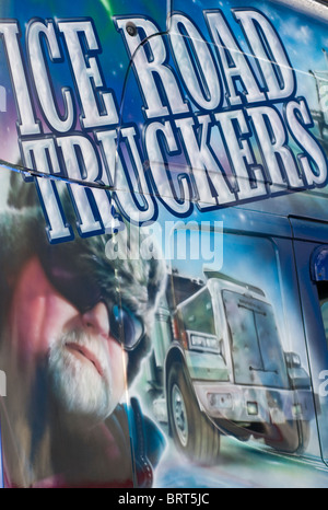 A promotional Ice Road Truckers vehicle on display at the 2010 Truckfest outdoor trucking event in the UK - Stock Photo