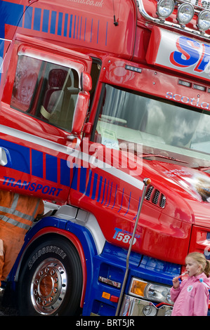 A vehicle on display at the 2010 Truckfest outdoor trucking event in the UK - Stock Photo