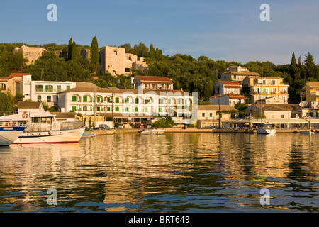 Harbour at Kassiopi, Corfu, Greece - Stock Photo