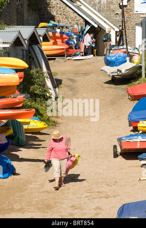 Boats in Newquay, West Wales, UK - Stock Photo