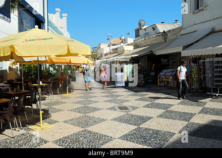 Cafe and Shops in Albufeira - Stock Photo