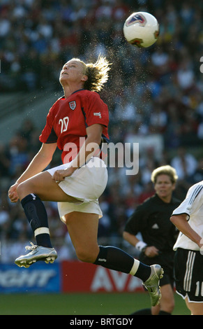 Abby Wambach of the United States (20) battles for a ...