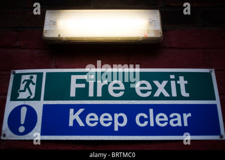 Fire Exit Keep Clear Emergency Doors And Car Park Markings