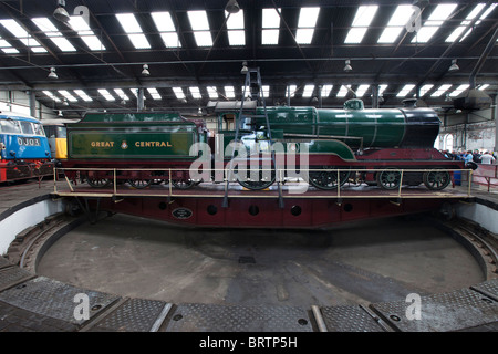 Barrow Hill Railway Engine Shed in Chesterfield Derbyshire.  Britain's last surviving operational working roundhouse. - Stock Photo