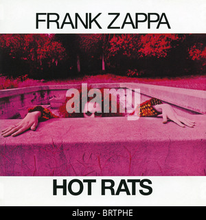 Album cover of Hot Rats by Frank Zappa originally released by Bizarre Records in 1969 - Stock Photo