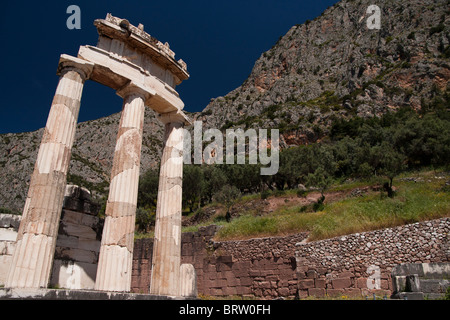 Sanctuary of Athina Pronaia and Tholos building - Stock Photo