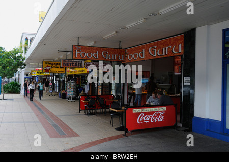 Cafes in Shield Street, Cairns, Queensland,Australia - Stock Photo