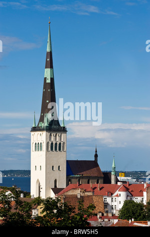 Olev Cathedral, Tallinn, Estonia, Baltic States - Stock Photo