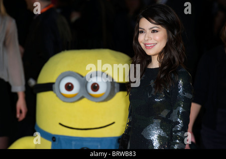 Miranda Cosgrove attends The European Premiere of ' Despicable Me ' at Empire Leicester Square on October 11th, - Stock Photo