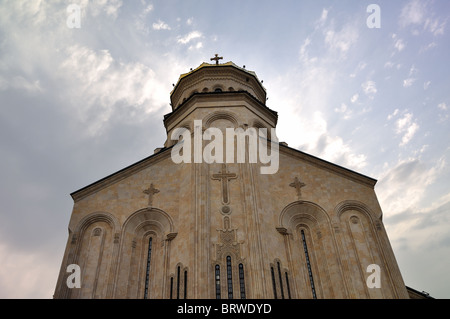 The Tbilisi Holy Trinity Cathedral commonly known as Sameba is the main Georgian Orthodox Christian cathedral, Tbilsi - Stock Photo