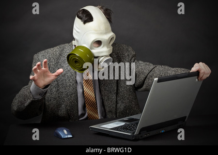 Humanity is on the brink of ecological disaster - Stock Photo
