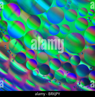 Oil and water abstract art - Stock Photo