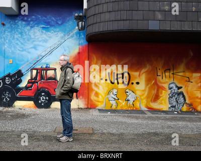 ... Graffiti On Firestation Wall In Weiner Strasse Kreuzberg Berlin Feb  2010   Stock Photo Part 87