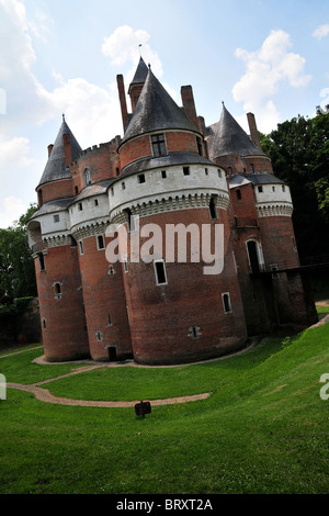 THE CHATEAU DE RAMBURES, SOMME (80), PICARDY, FRANCE - Stock Photo