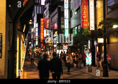 Night View of Downtown Tokyo - Stock Photo