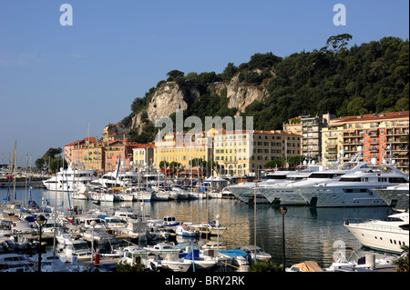 france, nice, port - Stock Photo