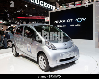 Citroen ION electric car at Paris Motor Show 2010 - Stock Photo