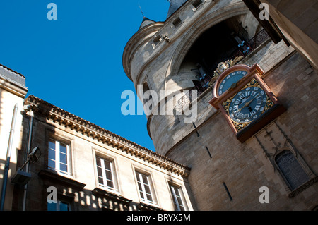Gothic tower, the 15th century Grosse Cloche, Bordeaux, France - Stock Photo