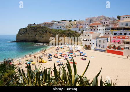 Beach of Carvoeiro, Algarve, Portugal - Stock Photo